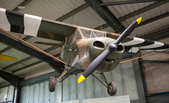 Model aircraft, 1:1 scale hanging from the roof