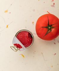 Tomato and tomato paste.