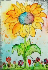 Wish you all a very nice sunday Sketch Doodle Watercolor My Tiny World Painted Image Flower Sketchbook Sketching Drawing Sketching ? Sketching For Fun