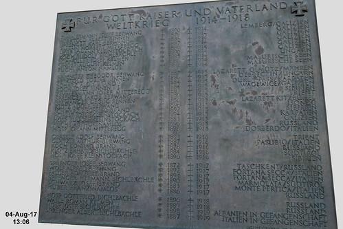 Berwang - WWI war memorial tablet