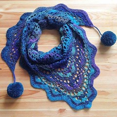 💞💞💁 I loved this model of crocheted scarf, I loved this color of blue also see step by step, good night