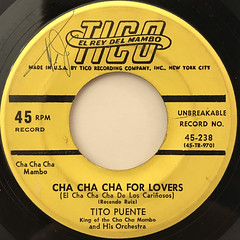 TITO PUENTE:CHA CHA CHA FOR LOVERS(LABEL SIDE-A)