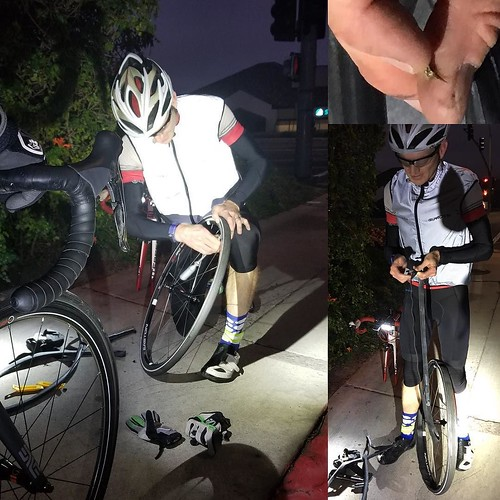 Finally cool enough to break out the @provizsports vest on dawn patrol Tuesday. Friends were happy to take pictures when I flatted.