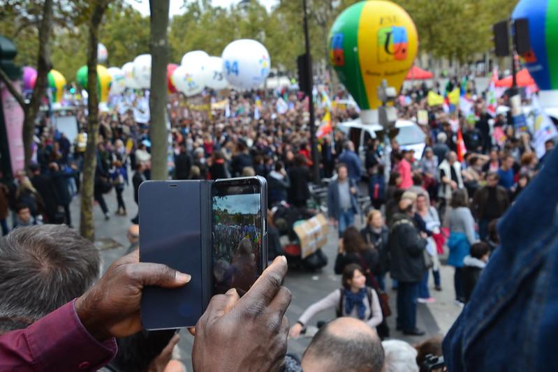 Manif fonctionnaires Paris contre les ordonnances Macron