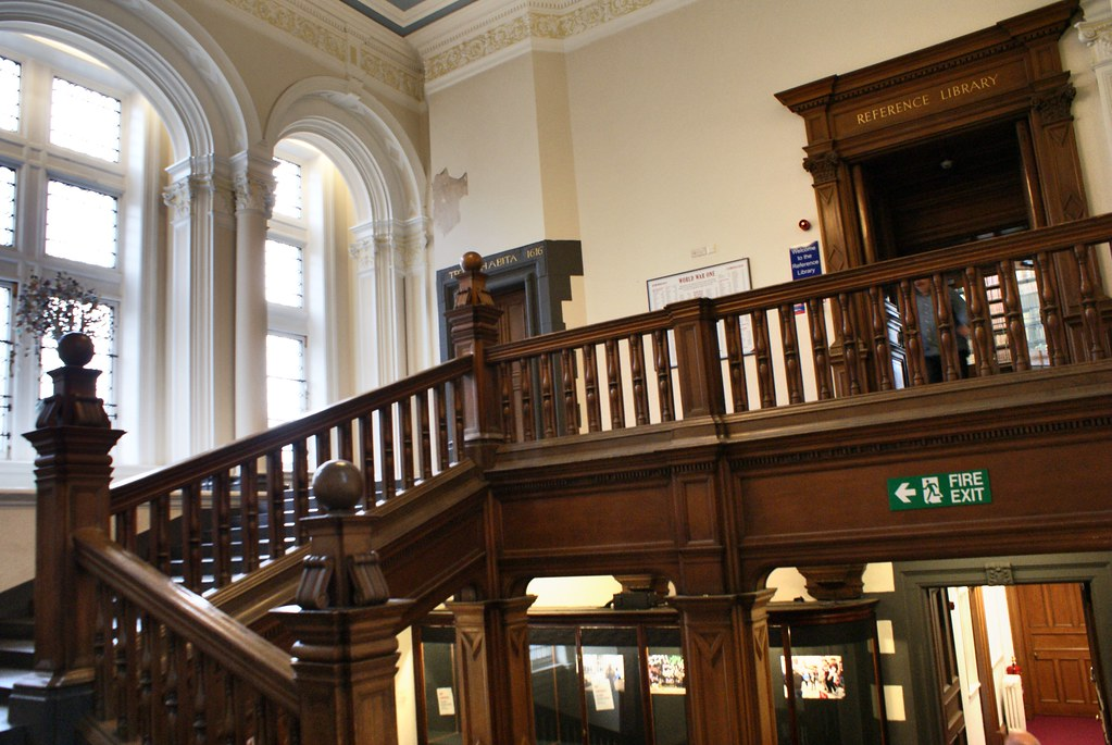 Bibliothèque municipale d'Edimbourg dans le centre historique.