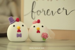 chicken, hen, Rooster cake topper, wedding cake topper, cute animals wedding cake topper decoration ideas and wedding decor details