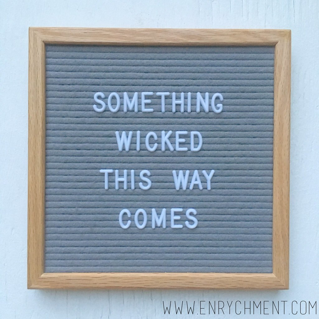 something wicked letterboard