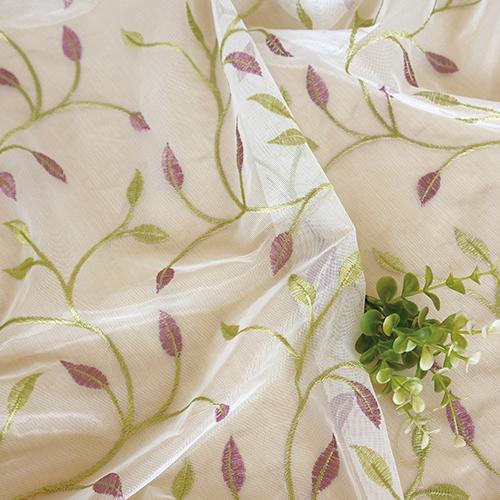 蔓蘿青繁紗 典雅繡花 無接縫窗紗布 展覽場裝飾佈置 新娘頭飾頭紗禮服服裝裝飾布料 DB1990045