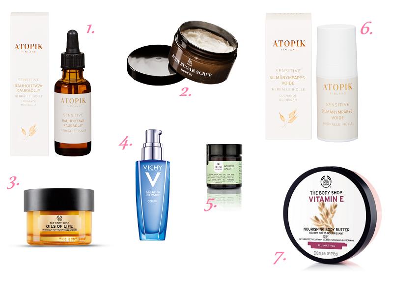 7 ihonhoitotuotetta