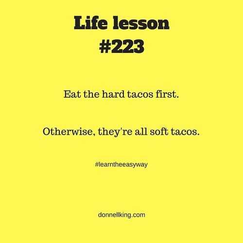 Life lesson #223