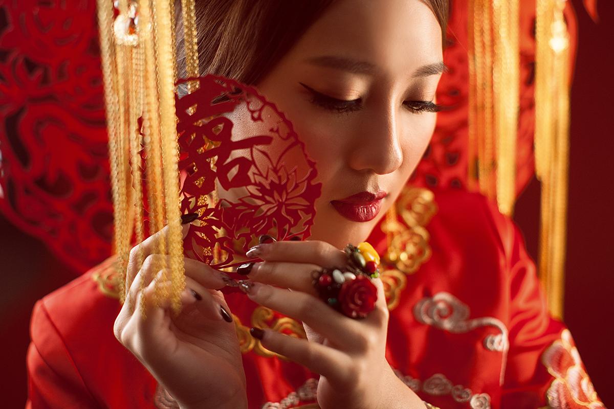 婚紗攝影,自主婚紗,婚紗照,台中華納婚紗,中式新娘,素人改造