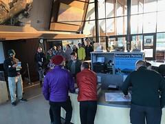 People Queue to get Glacier's Backcountry Permit