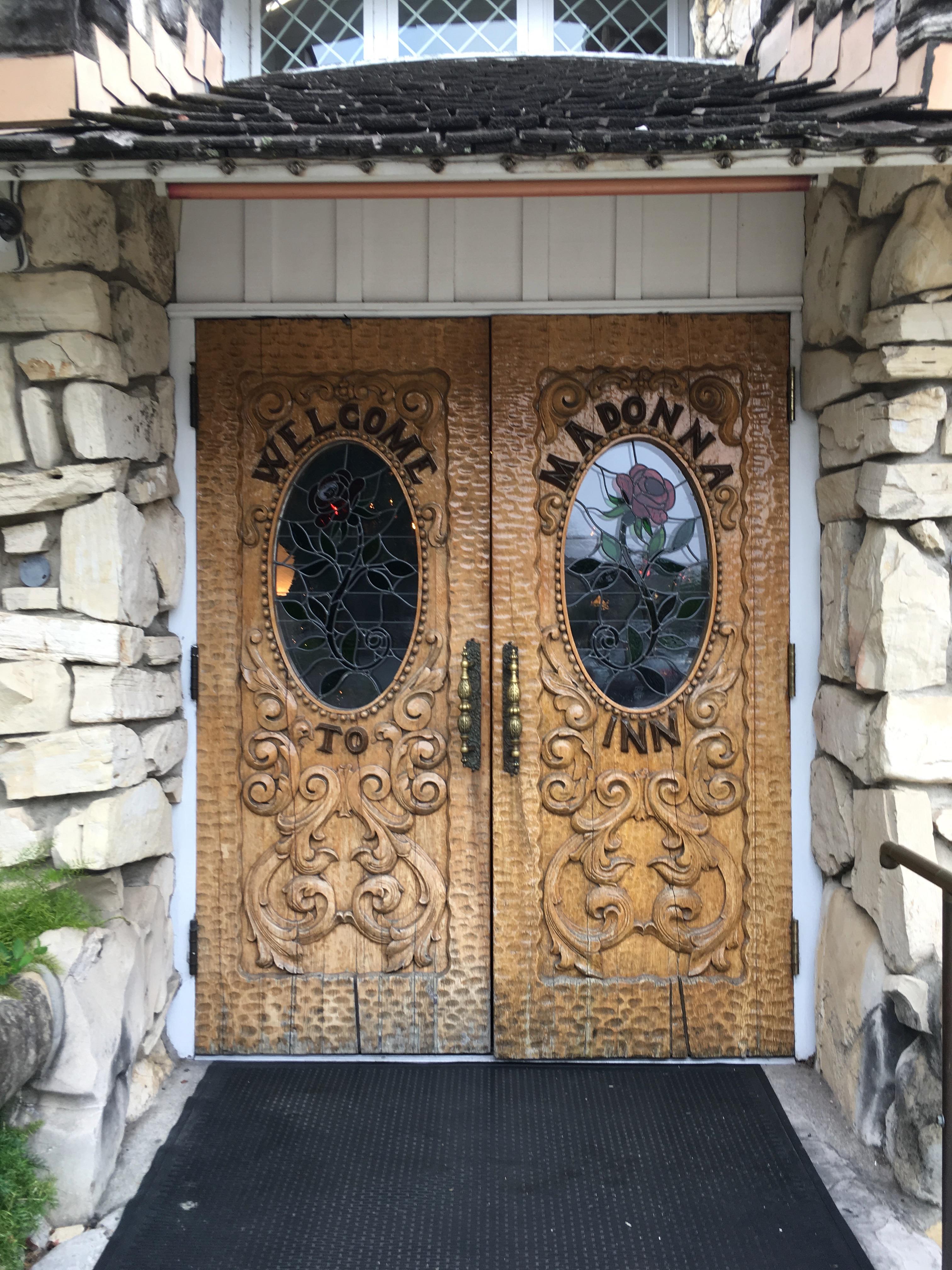 Madonna Inn - front door