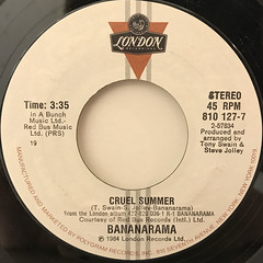 BANANARAMA:CRUEL SUMMER(LABEL SIDE-A)