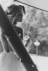 Canon EOS 60D & PicMonkey -  Jess & Joe's Wedding - Pensive Bride at the Entrance