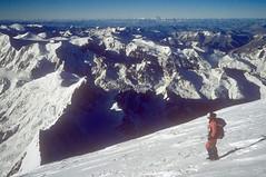 Expedition Manaslu. Abstieg vom Gipfel. Foto: Günther Härter.