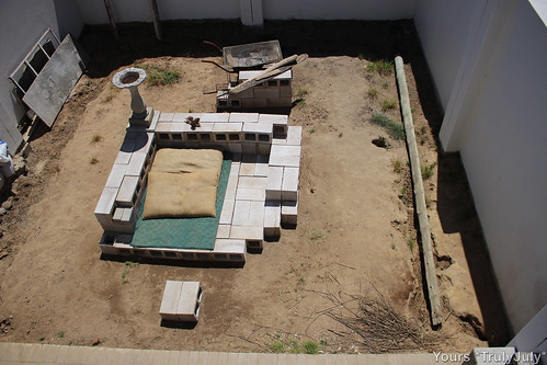 Our new garden design: Chillout area with braai at the back.