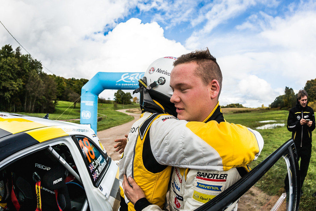 Huttunen Jari and Ingram Chris, ADAC Opel Rallye Junior Team, Opel Adam R2 ERC Junior U27 ambiance portrait during the 2017 European Rally Championship ERC Liepaja rally,  from october 6 to 8, at Liepaja, Lettonie - Photo Thomas Fenetre / DPPI