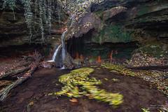 Tourbillon de feuilles Cascade des Quayres - Photo of Sallèdes
