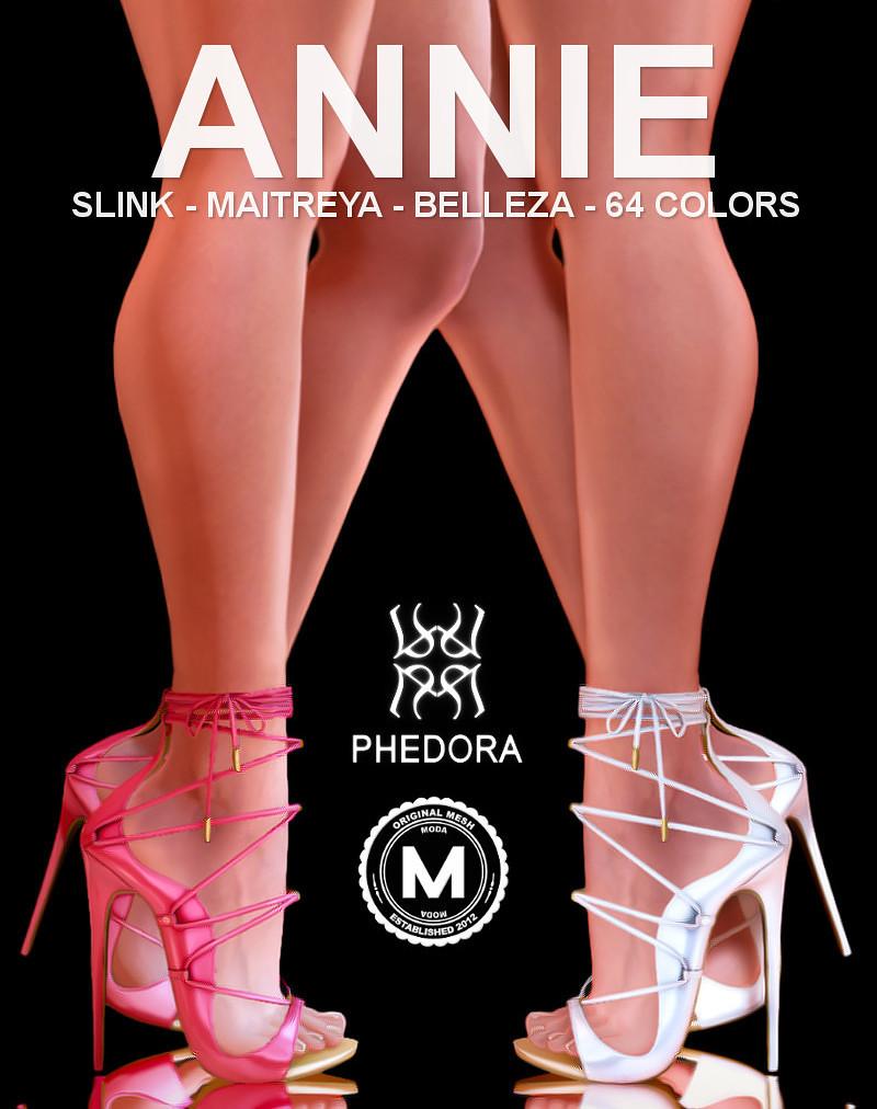 "Phedora. x MODA for Kinky Monthly - ""Annie"" Heels! - TeleportHub.com Live!"