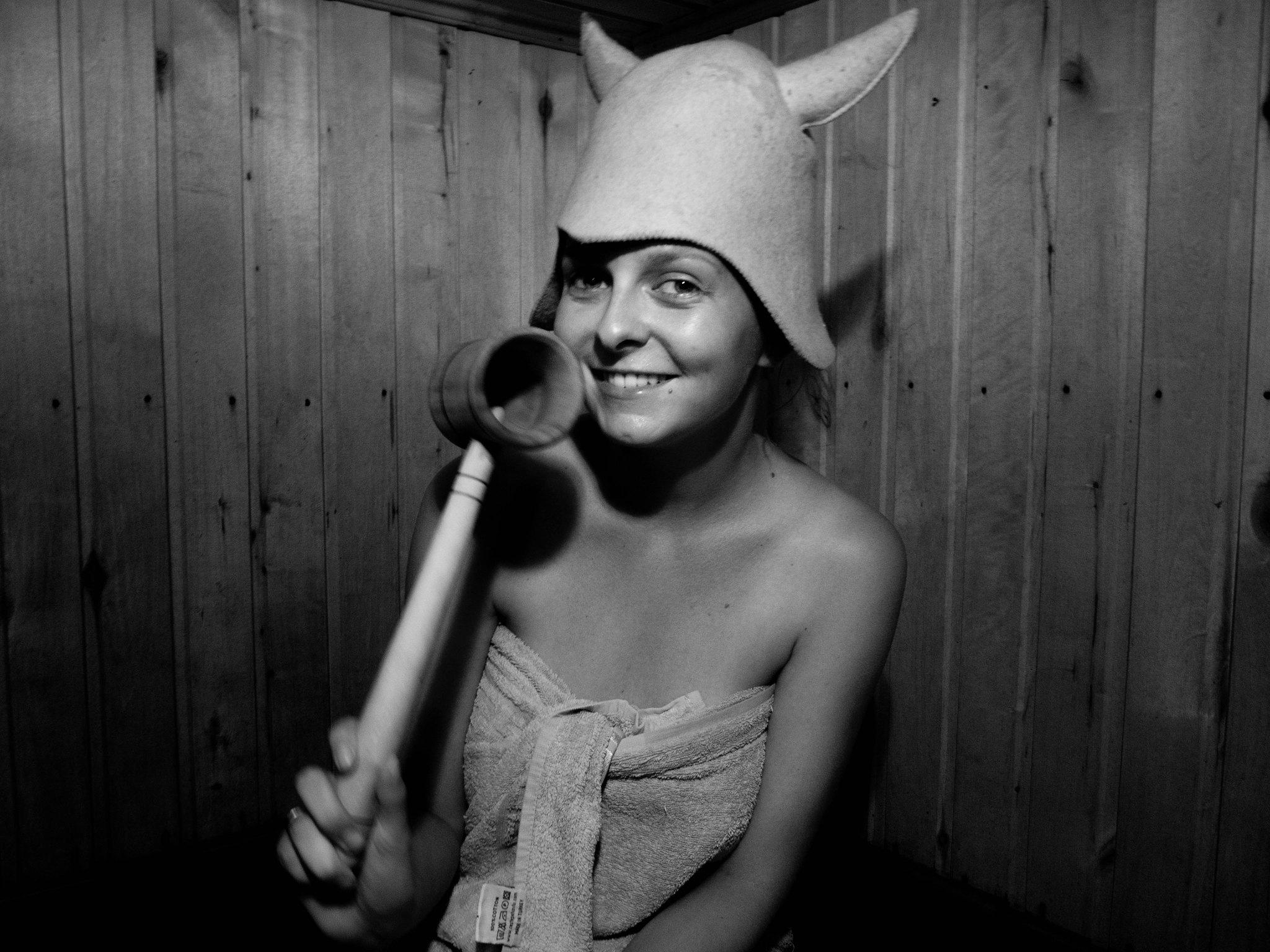 Baňa s plstěnou čepicí // Banya with a felt hat