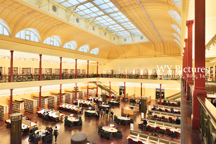 Melbourne 2017:  State LIbrary Of Victoria Redmond Barry Reading Room 2