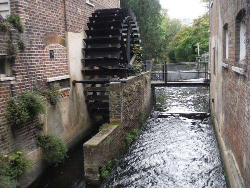 Waterwheel on River Wandle, Snuff Mill Morden Hall Park