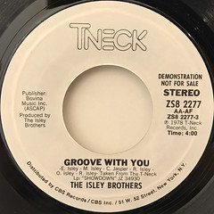 THE ISLEY BROTHERS:GROOVE WITH YOU(LABEL SIDE-B)