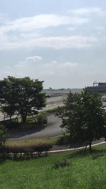 C-130H離陸 神明公園展望台から