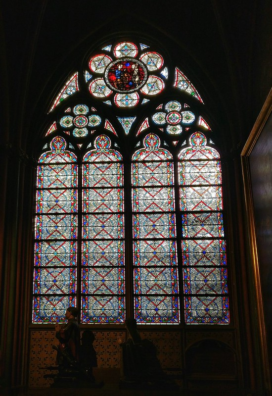 Glass Paintings inside the Notre Dame