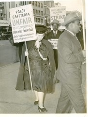 Lewis joins picket line at Press Cafeteria: 1940