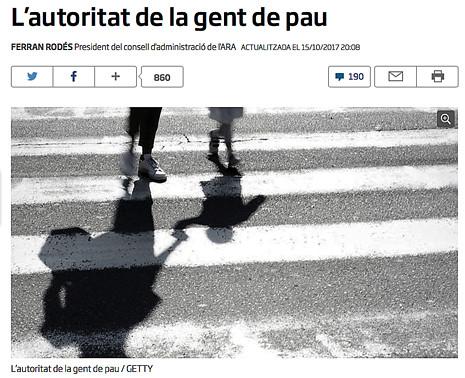 17j16 El presidente del ara pide a Puigdemont que abandone la DUI Uti 465