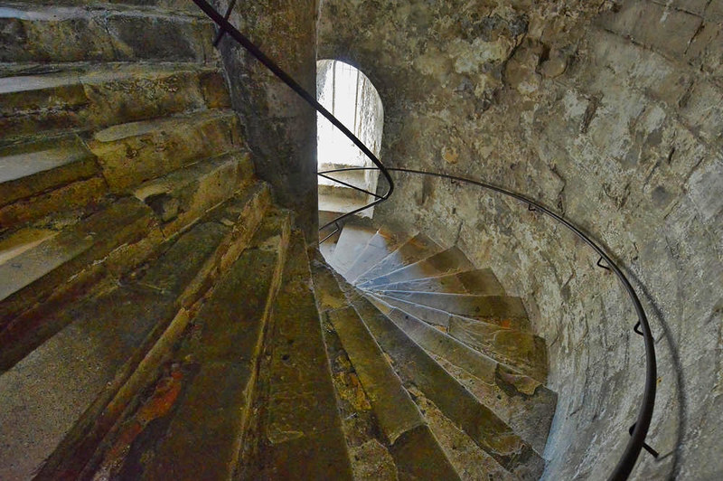 Staircase in the Great Tower. Credit Hartlepoolmarina2014