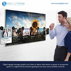 #DigitalSignage leverages #graphics and #video to #deliver #information to #guests or prospective guests in a highly #favored, attention-getting format they cannot possibly overlook. #TucanaGlobalTechnology #Manufacturer #HongKong