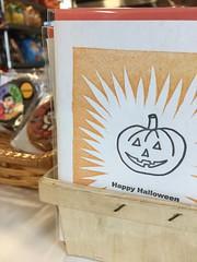 Letterpress Halloween cards at Franklin Bros market