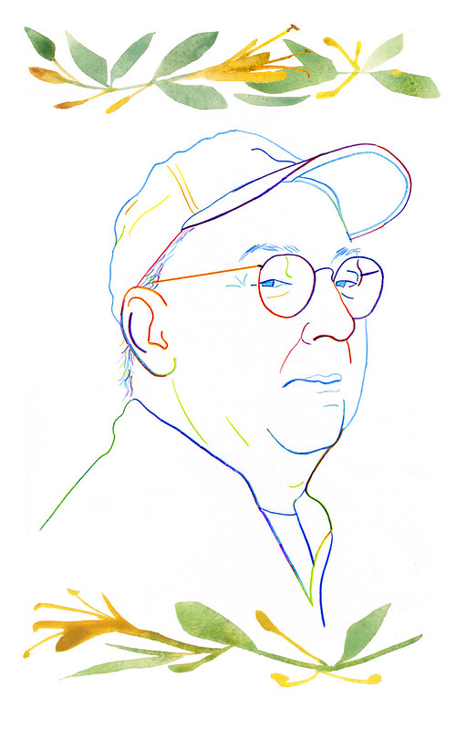 Chef Bill Smith portrait illustration: Seasoned in the South, a celebration of Bill Smith