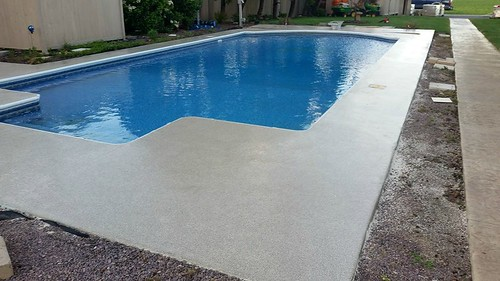 Epoxy Flake Pool Deck- Houston, TX