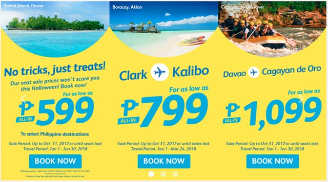 Cebu Pacific Air Promo No Tricks Just Treats Php599
