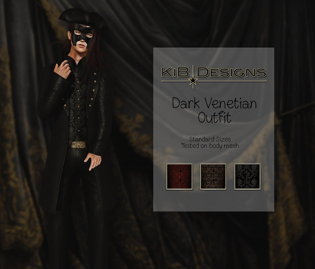 KiB Designs – Dark Venetian Male Outfit