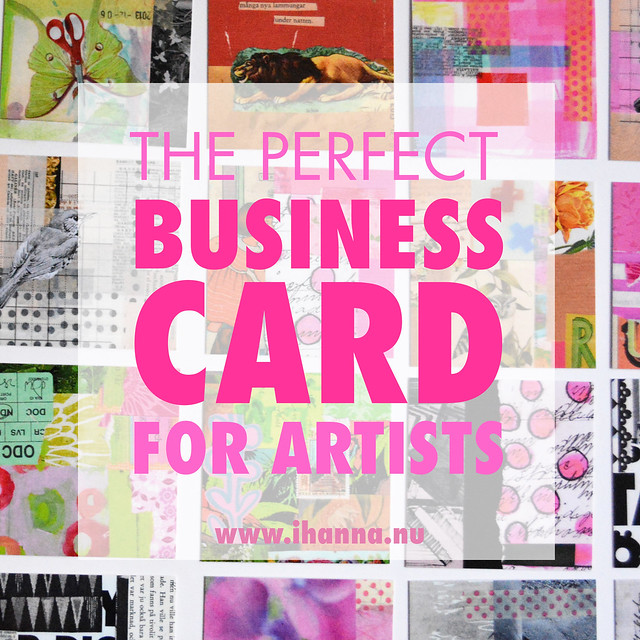 The Perfect Business Cards for Artists blog post by iHanna