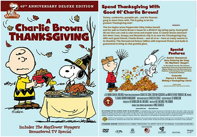 A Charlie Brown Thanksgiving DVD jacket