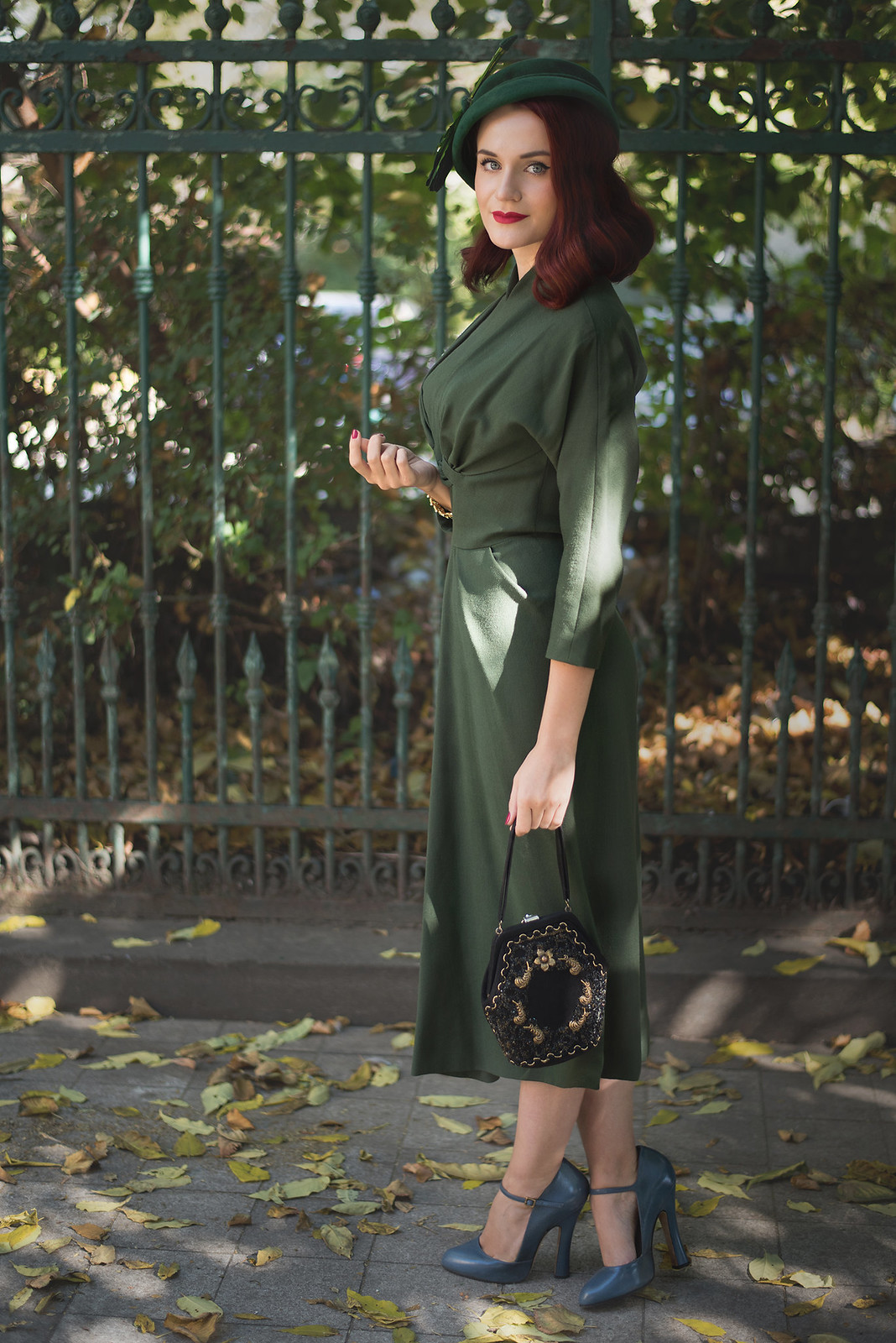 military green dress8