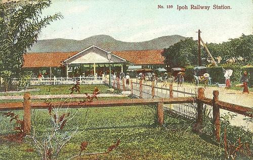 First Ipoh Railway Station circa 1900
