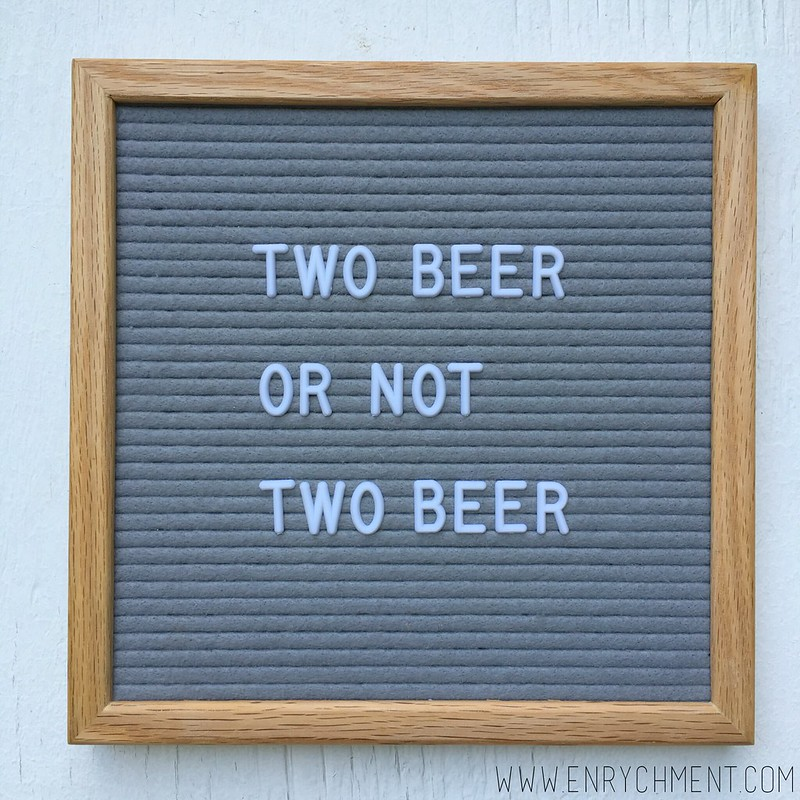 two beer letterboard