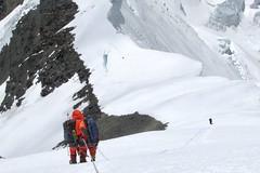 Mount Everest Expedition. Route oberhalb des Nordsattels, 7050 m. Foto: Archiv Härter.