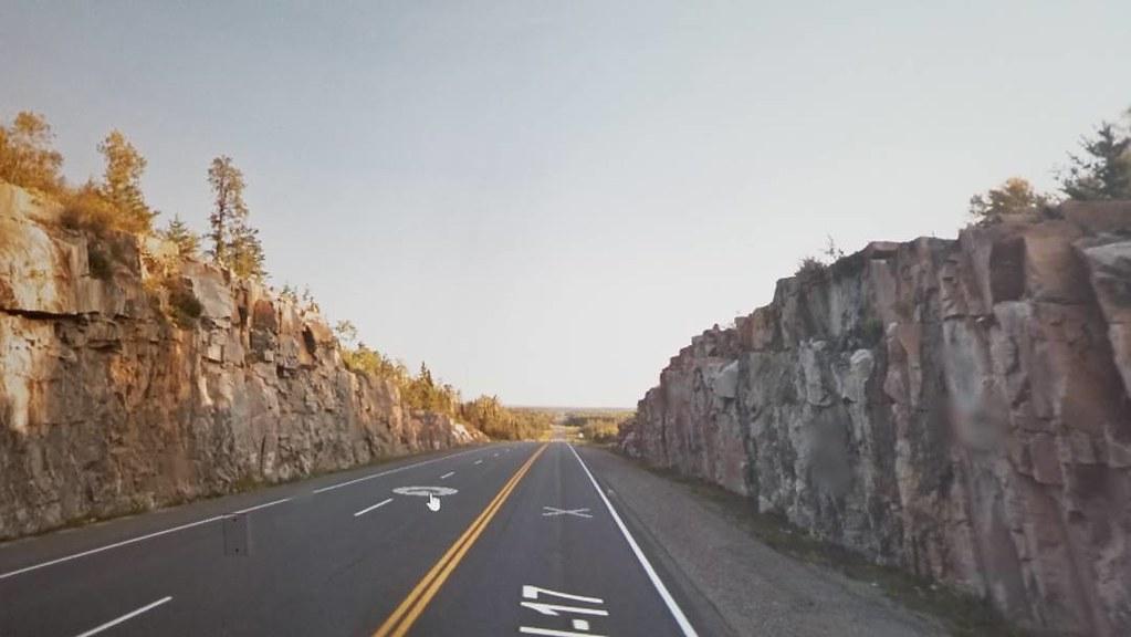 The road to Shabaqua. #ridingthroughwalls #xcanadabikeride #googlestreetview #ontario