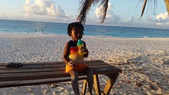 There were only two other persons on the beach. This little ran up and down as he always enjoys having the beach to himself. He paused only for some water 😊. #theartofslowliving #anguilla #myanguillaexperience