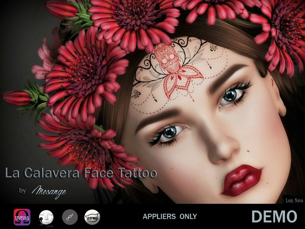MESANGE – La Calavera Face Tattoo