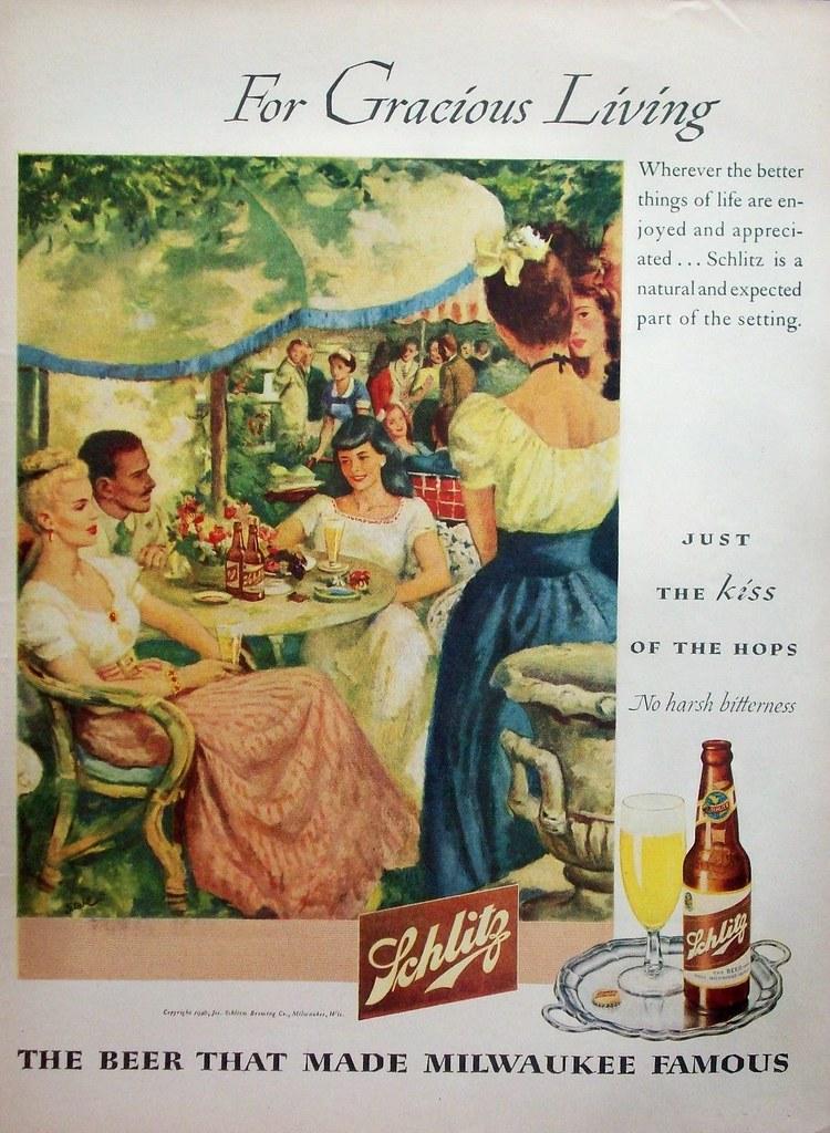 Schlitz-1946-for-gracious-living