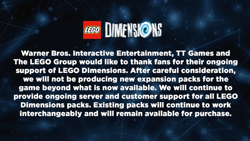 The End of LEGO Dimensions